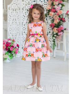Платье нарядное розового цвета Совунья